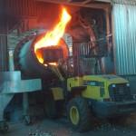 שקילה במעמיס קדמי במפעלי פלדה